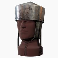 3d max medieval pot helm helmets