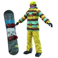 3d model of snowboard john