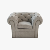 3ds max tufted armchair