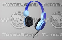 free headphone gaming gear 3d model