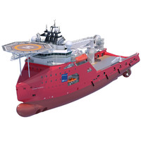 construction anchor handling vessel 3d obj