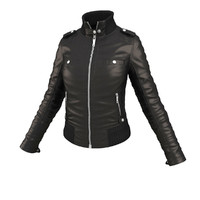 pack jackets woman character 3d model