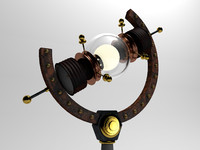 cinema4d steampunk lamp