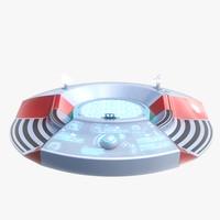 3d sci fi turntable 0