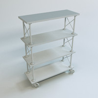 retro shelf 3d model