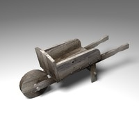 wheelbarrow wheel barrow 3d model