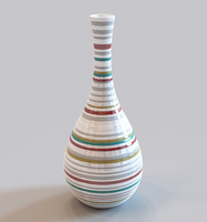 vase colourful stripes 3d max