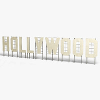 3dsmax hollywood sign landmark