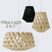 3d model plywood lamps light