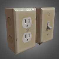 3d obj electrical outlets ready pbr