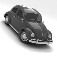 volkswagen coccinelle 1963 3d model