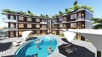 3d model greenhotel