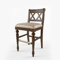 bar stool chatham 3d obj