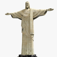 christ statue 3d model