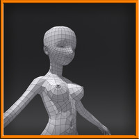 free female woman 3d model