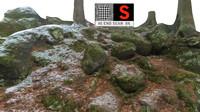 3d model stone boulders scanned