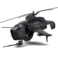 maya combine helicopter hunter-chopper