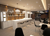 3ds cafe interior