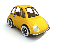 cartoon cute car obj
