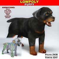 3dsmax rottweiler puppy