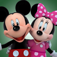 3d model of mickey minnie mouse