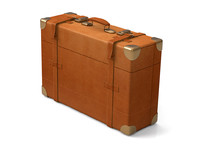 leather suitcase 3d model
