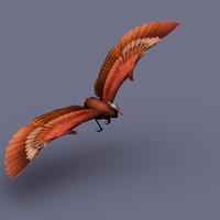 stork bird 3d x