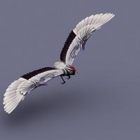 stork bird 3d model