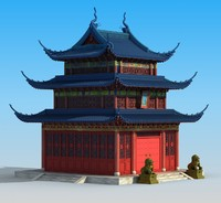 chinese building ancient 3d model