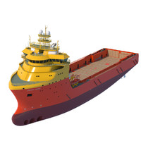 3d vessel platform supply 92 model