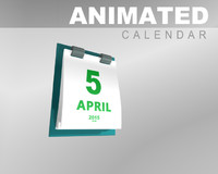 date calendar animation 3d model