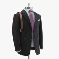 3d model grey suit domenico vacca