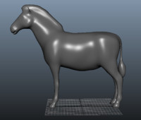 base mesh zebra pony 3d model