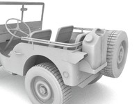 3d model of willys jeep