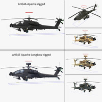 3d model of ah64e apache longbow ah64a
