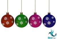 christmas balls obj