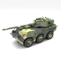 ptl02 tank destroyer 3d obj