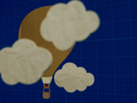 free fbx model hot-air balloon