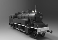 lokomotiv steam locomotive passenger 3d max