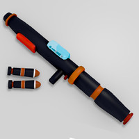 maya rocket launcher cartoon