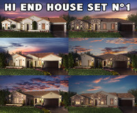 3d model realistic houses settings