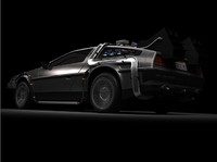future delorean time machine 3d model