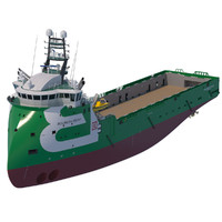 3d model platform supply vessel bourbon