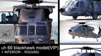 3d model uh-60 black hawk vip