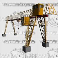 crane derrick 3d model
