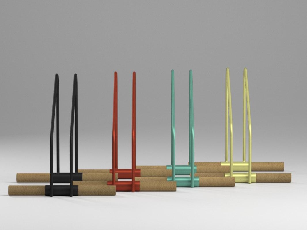 3d model wao bike stand. Black Bedroom Furniture Sets. Home Design Ideas