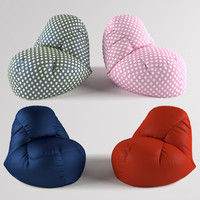 bean bag chair 3d max