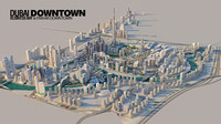3d emaar downtown model