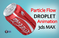 droplets coca cola drops 3d max
