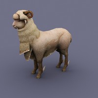animal sheep cartoon 3d model